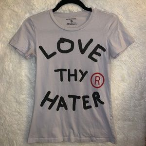 Gifted Apparel Love Thy Hater T-Shirt Light Gray S